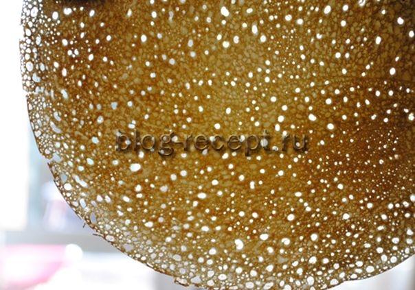 блины на кефире тонкие с дырочками рецепт