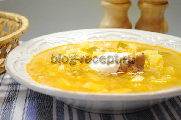 рассольник с солеными огурцами и рисом рецепт с фото