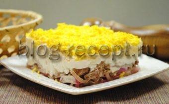 Салат мужской каприз с говядиной рецепт с фото