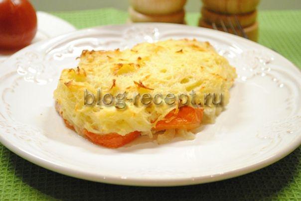 свинина по французски под картофельной шубкой
