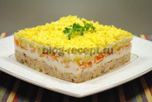 Салат из кеты мимоза #5
