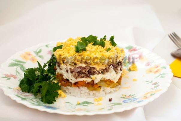 Салат мимоза с сайрой и яблоком классический рецепт с