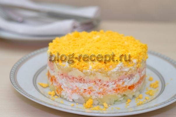 салат мимоза с сыром рецепт классический рецепт