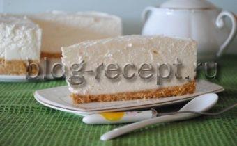 чизкейк с творогом и печеньем без выпечки рецепт с фото
