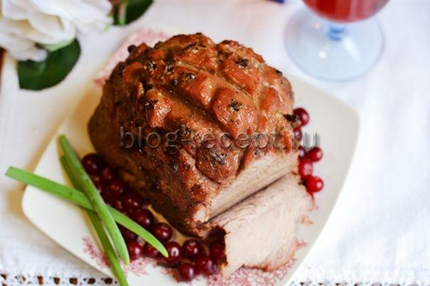 свиная шейка запеченная в духовке в руккаве