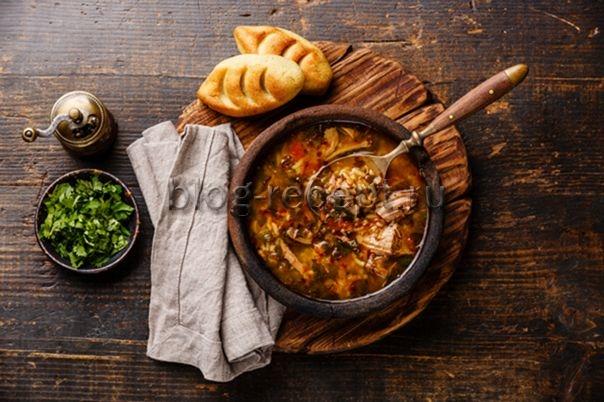 Суп харчо из свинины: рецепт приготовления в домашних условиях