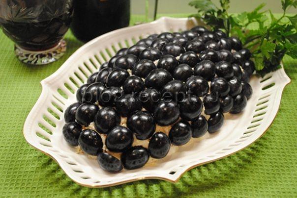 салат виноградная гроздь