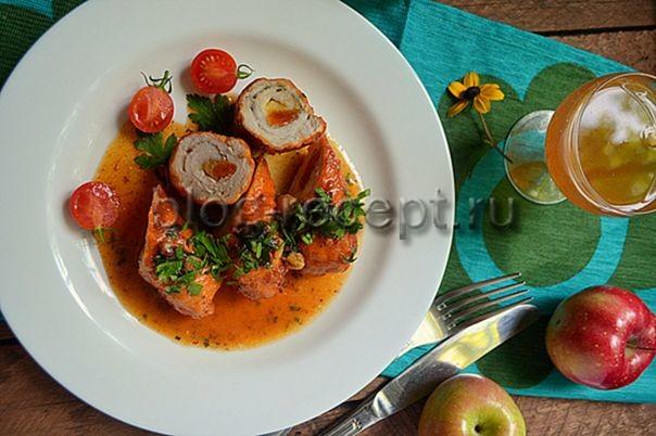 мясной рулет из свинины в духовке рецепт с фото