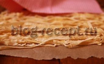 домашняя лапша с рецепт с фото