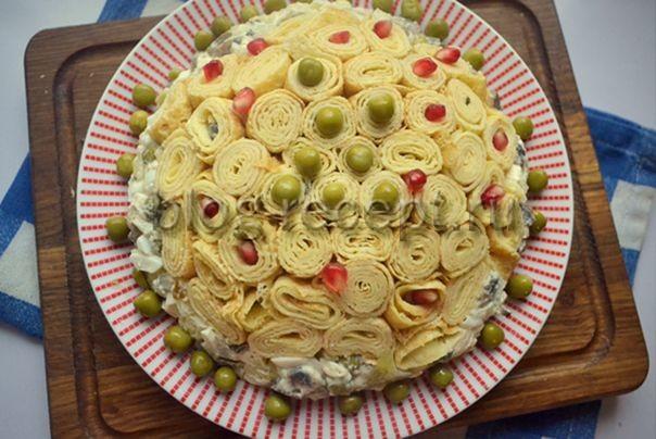 рецепт салата блинный пошагово с фото вам