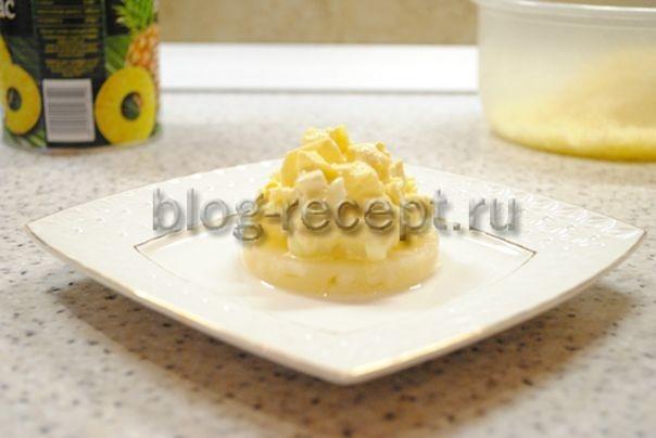 Салат из курицы и ананасов, рецепт с фото, очень вкусный