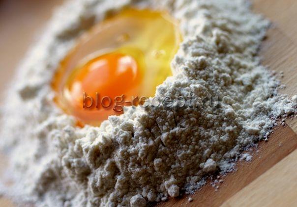 Тесто для лапши - рецепт пошаговый с фото