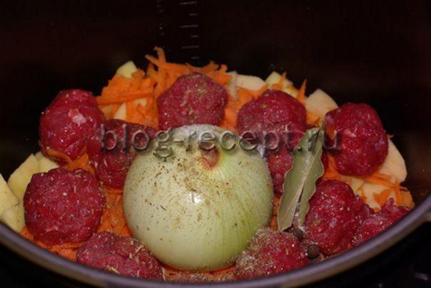 Картофельный суп с фрикадельками в мультиварке - рецепт пошаговый с фото