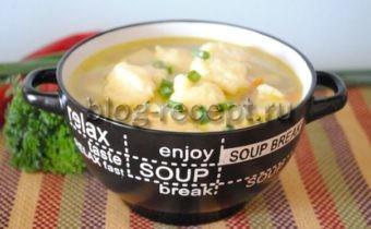 суп с клёцками рецепт с фото пошаговый