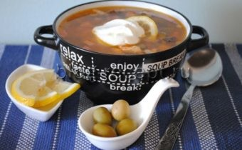 солянка классическая мясная сборная рецепт с фото