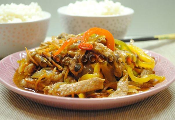 мясо веревочкой по китайски рецепт с фото