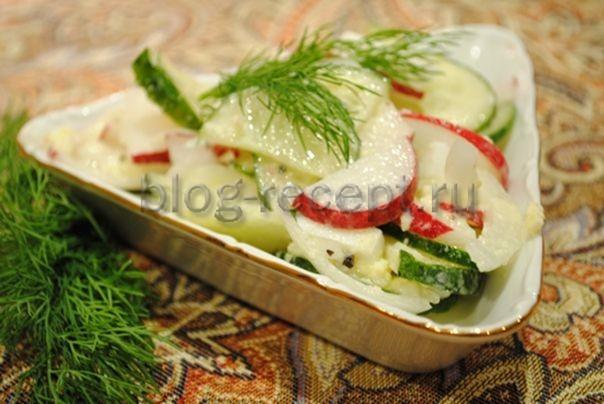 салат из редиски рецепты с фото простые и вкусные