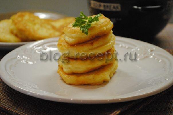 из картофельного пюре оладьи