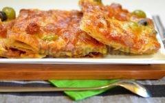 пицца из теста дрожжевого слоеного