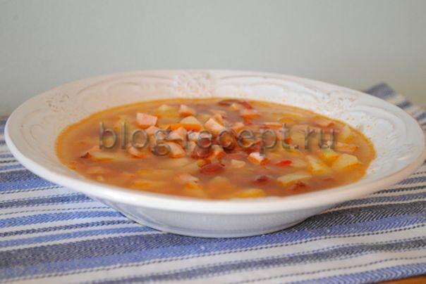 фасолевый суп из красной фасоли рецепт