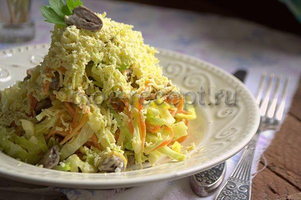 салат из куриных сердечек рецепт с фото очень вкусный