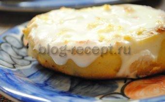 творожные завитушки в сметанной заливке рецепт с фото