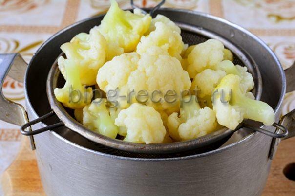Как отварить цветную капусту перед заморозкой