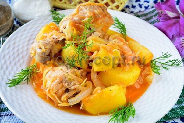 Картофельный соус с куриной грудкой в казане - рецепт пошаговый с фото