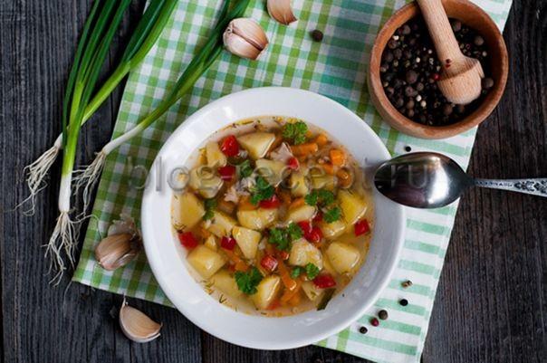 суп гречневый с курицей