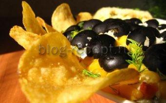 салат подсолнух с чипсами рецепт классический
