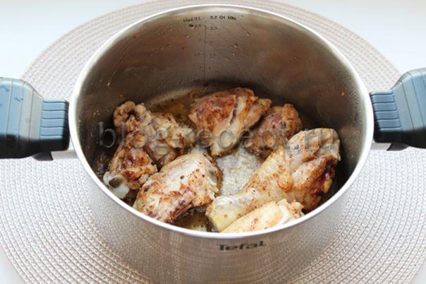 Как потушить курицу с картошкой, пошаговый рецепт с фото.