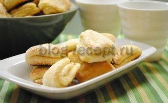 печенье гусиные лапки из творога рецепт с фото