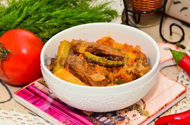 азу по татарски с солеными огурцами рецепт с фото