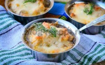 жульен с грибами и курицей рецепт с фото в духовке'