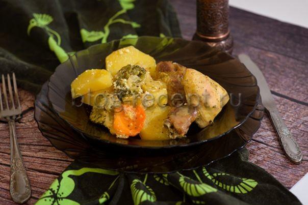 курица с овощами в духовке рецепт самый вкусный