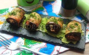 рулетики из баклажанов с разными начинками рецепты с фото пошагово