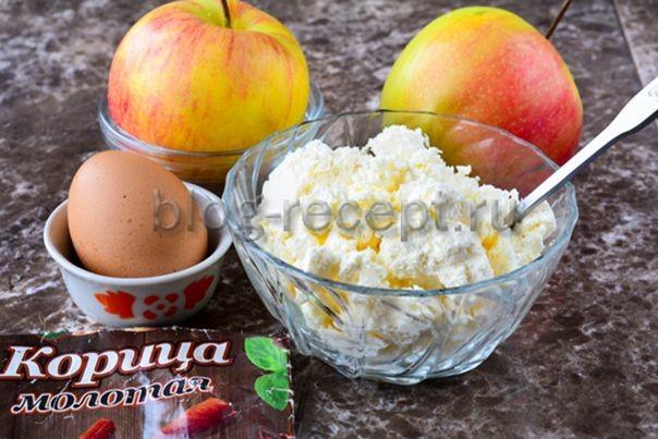 Творожная запеканка с яблоками в духовке, как приготовить
