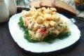салат с кальмарами и капустой пекинской