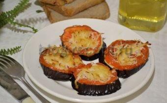 запеченные баклажаны с помидорами и сыром в духовке