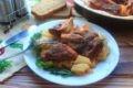 свиные ребрышки в духовке с картошкой