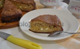 Заливной пирог с капустой на кефире - рецепт с фото