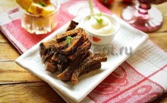 чесночные гренки из черного хлеба рецепт