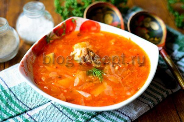 кислые щи из квашеной капусты пошаговый рецепт с фото
