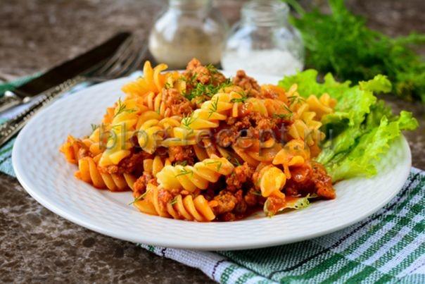 макароны по флотски рецепт с фаршем пошаговый рецепт с фото на сковороде
