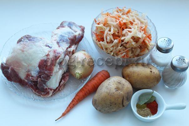 Щи из квашеной капусты и картошки - рецепт пошаговый с фото