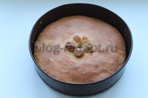 Капустный пирог с яйцом - рецепт пошаговый с фото