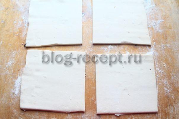 Хачапури с сыром из слоеного теста - рецепт пошаговый с фото