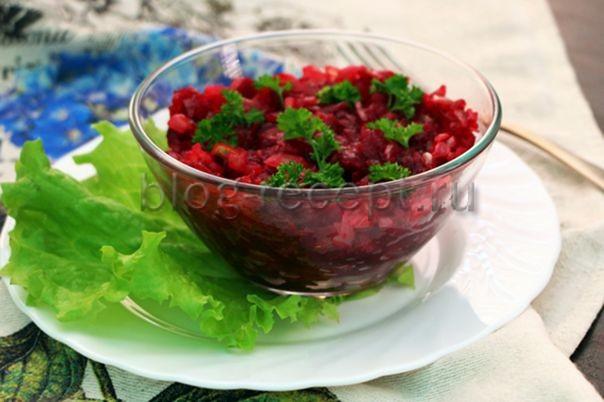 салат из свеклы с жареным луком рецепт с фото очень вкусный