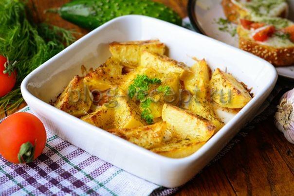 картошка в духовке с майонезом и чесноком рецепт с фото