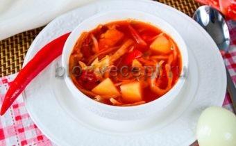 вкусный борщ рецепт пошаговый с фото из свинины
